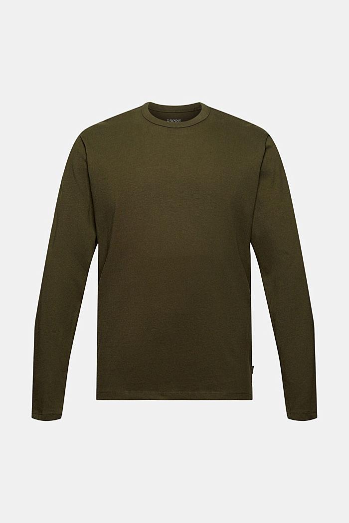 Jersey-Longsleeve aus 100% Organic Cotton, DARK KHAKI, detail image number 6