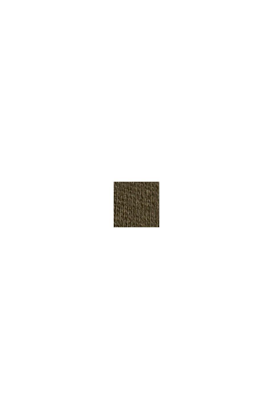 Jersey longsleeve van 100% biologisch katoen, DARK KHAKI, swatch