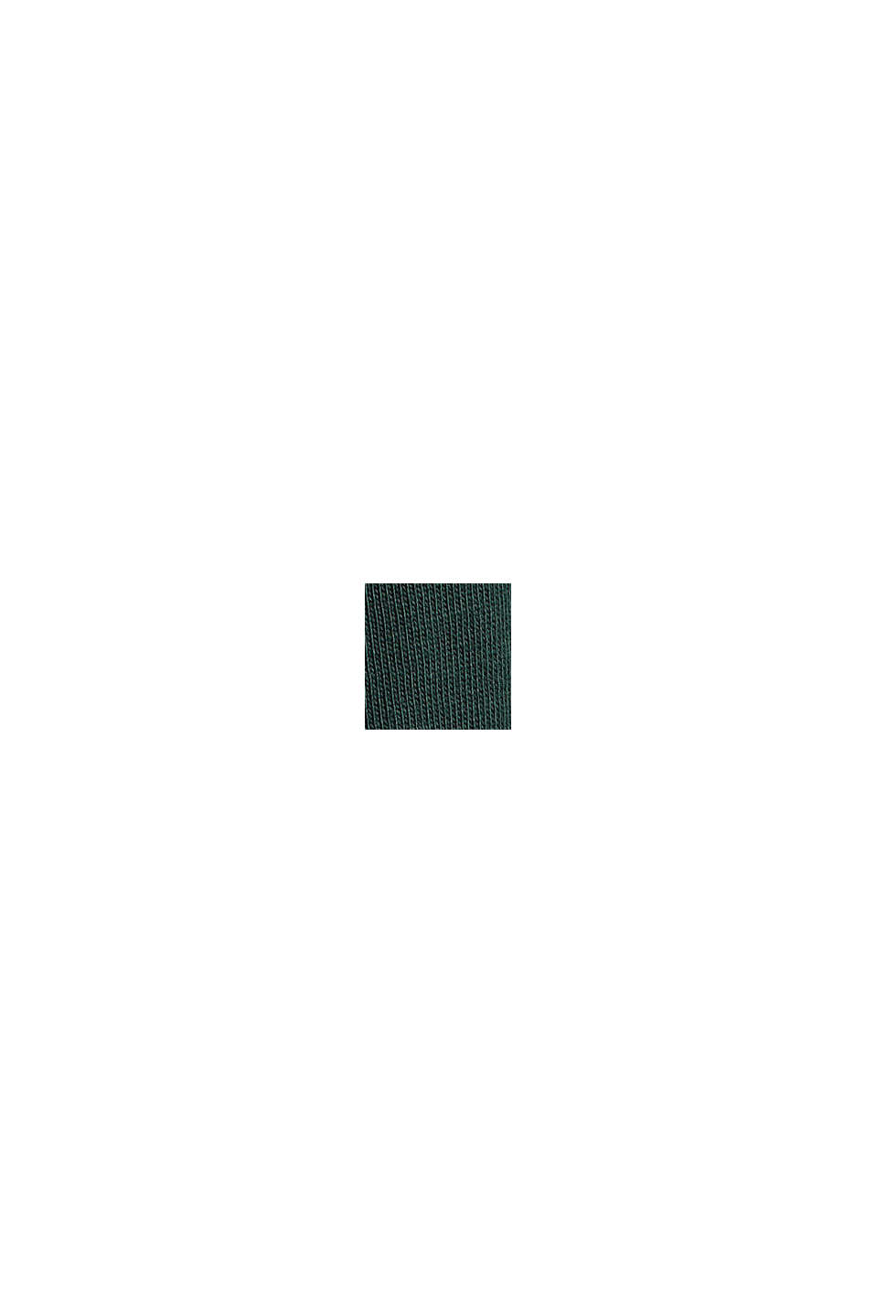 Jersey longsleeve van 100% biologisch katoen, TEAL BLUE, swatch