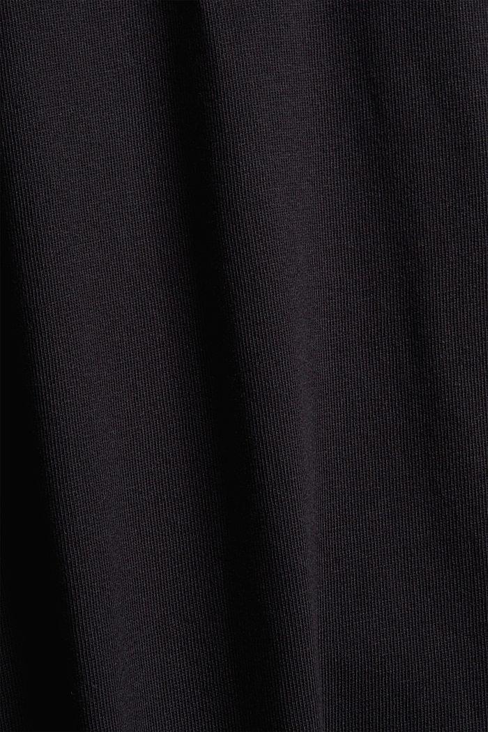 Jersey longsleeve van biologisch katoen, BLACK, detail image number 4