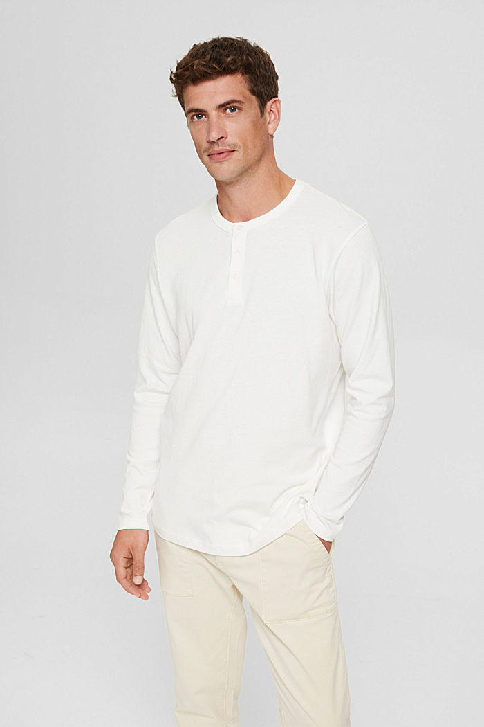 Jersey-Longsleeve aus Organic Cotton, OFF WHITE, detail image number 0