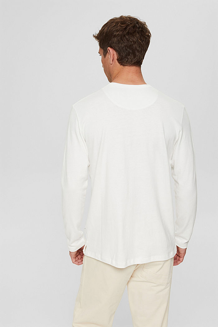 Jersey-Longsleeve aus Organic Cotton, OFF WHITE, detail image number 3