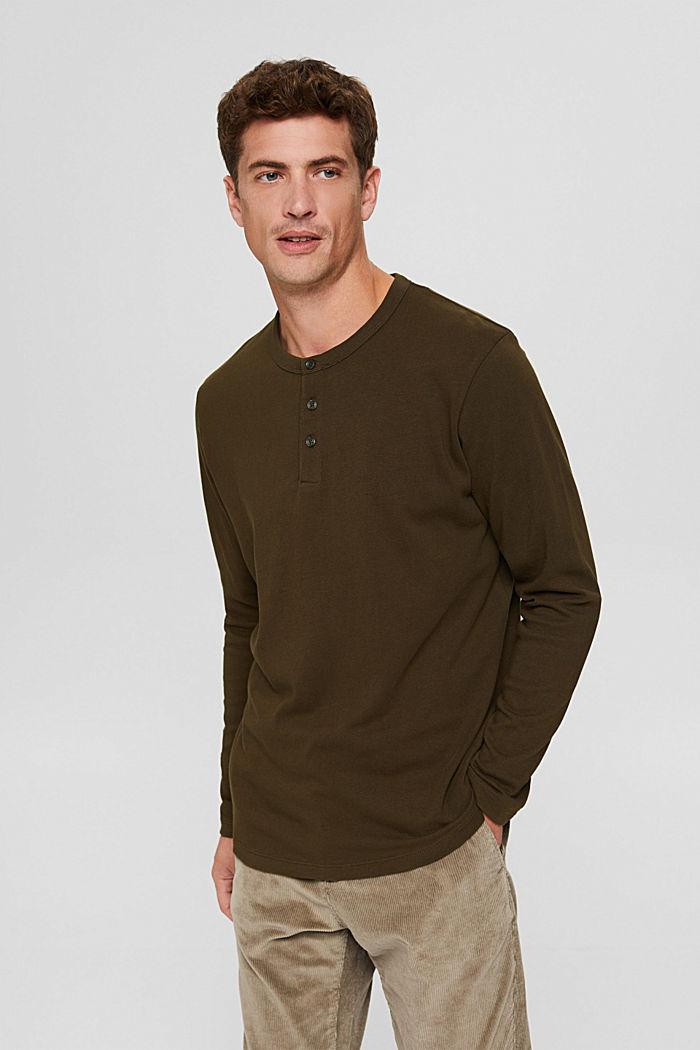 T-shirt en jersey de coton biologique, DARK KHAKI, detail image number 0