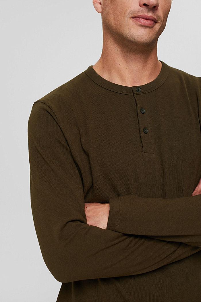 T-shirt en jersey de coton biologique, DARK KHAKI, detail image number 1