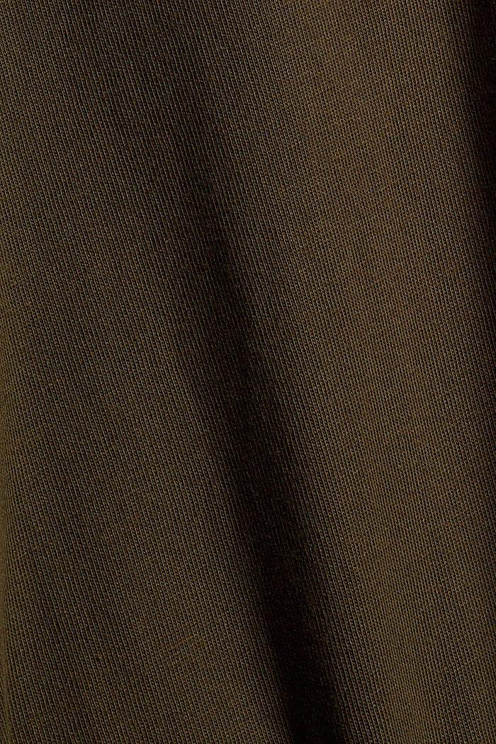 T-shirt en jersey de coton biologique, DARK KHAKI, detail image number 4