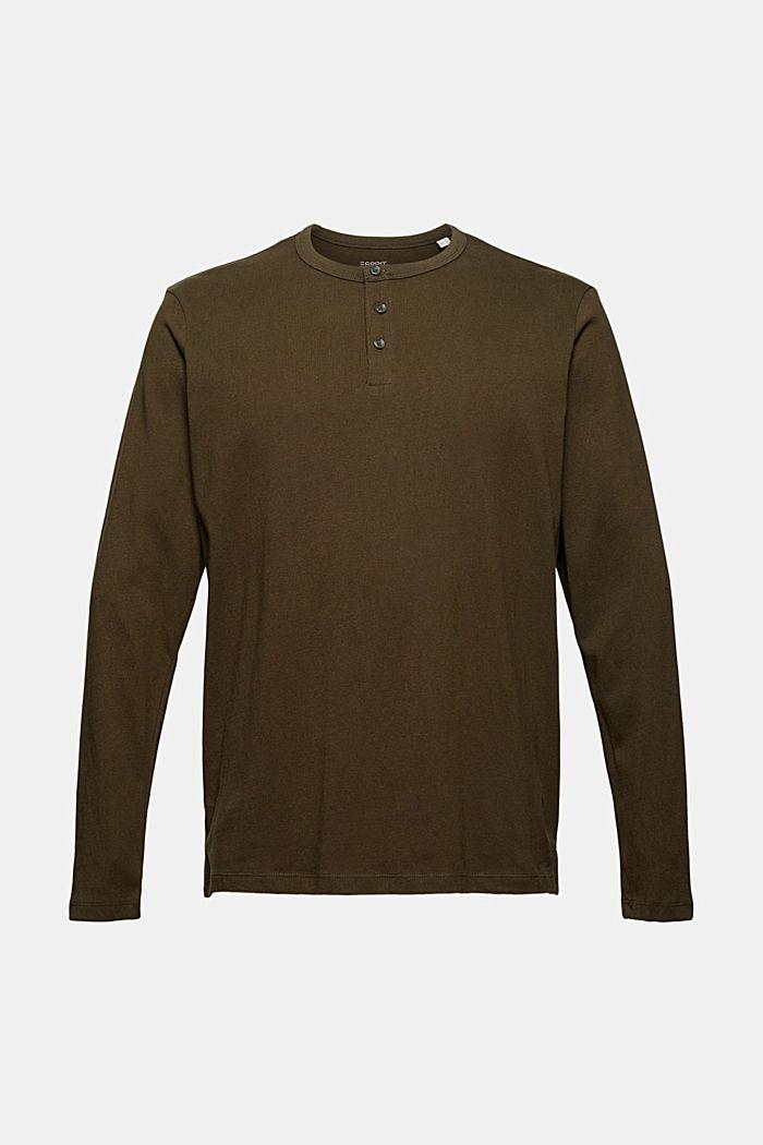 T-shirt en jersey de coton biologique, DARK KHAKI, detail image number 5