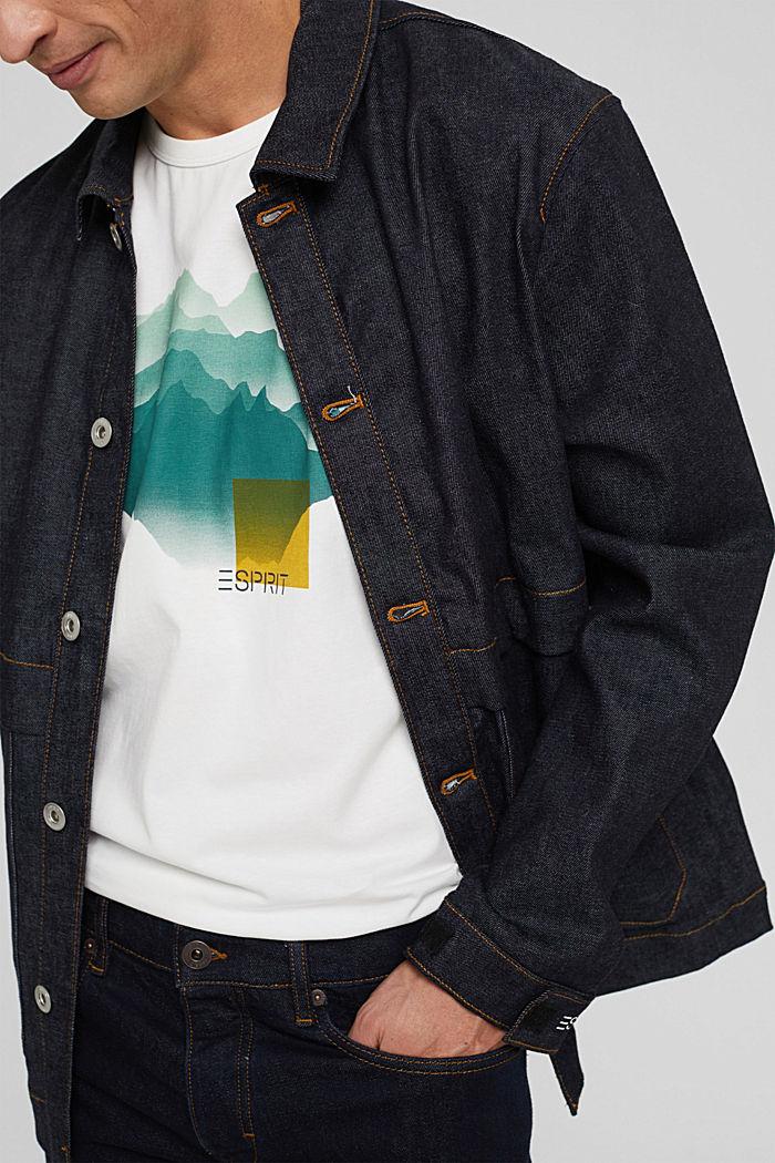 T-shirt en jersey orné d´un imprimé, coton biologique, OFF WHITE, detail image number 4