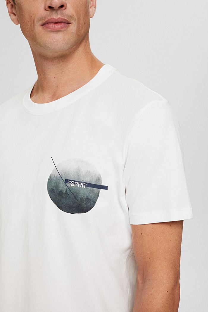 T-shirt en jersey orné d´un imprimé, coton biologique, OFF WHITE, detail image number 1