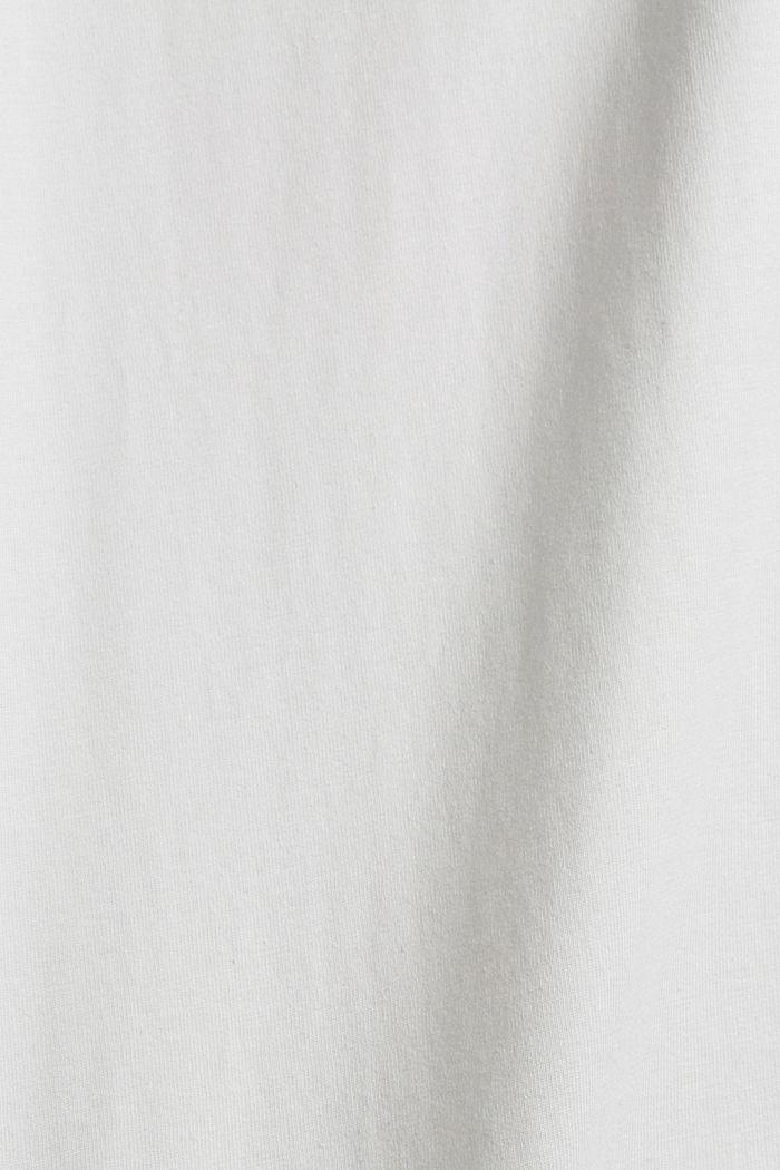 T-shirt en jersey orné d´un imprimé, coton biologique, OFF WHITE, detail image number 5