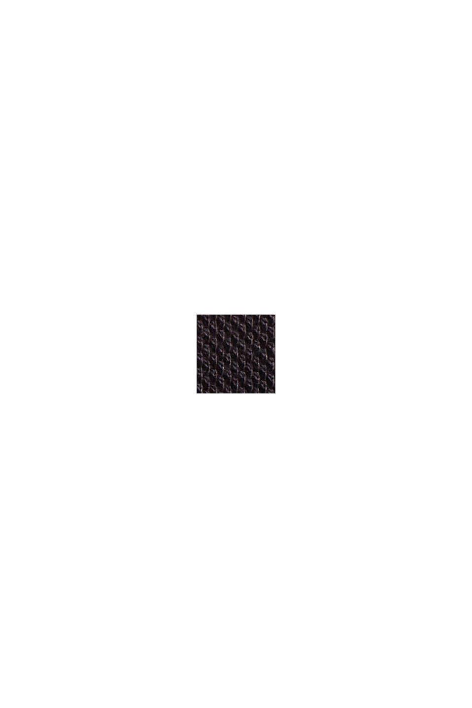 Polo à manches longues en maille piquée, coton biologique, BLACK, swatch