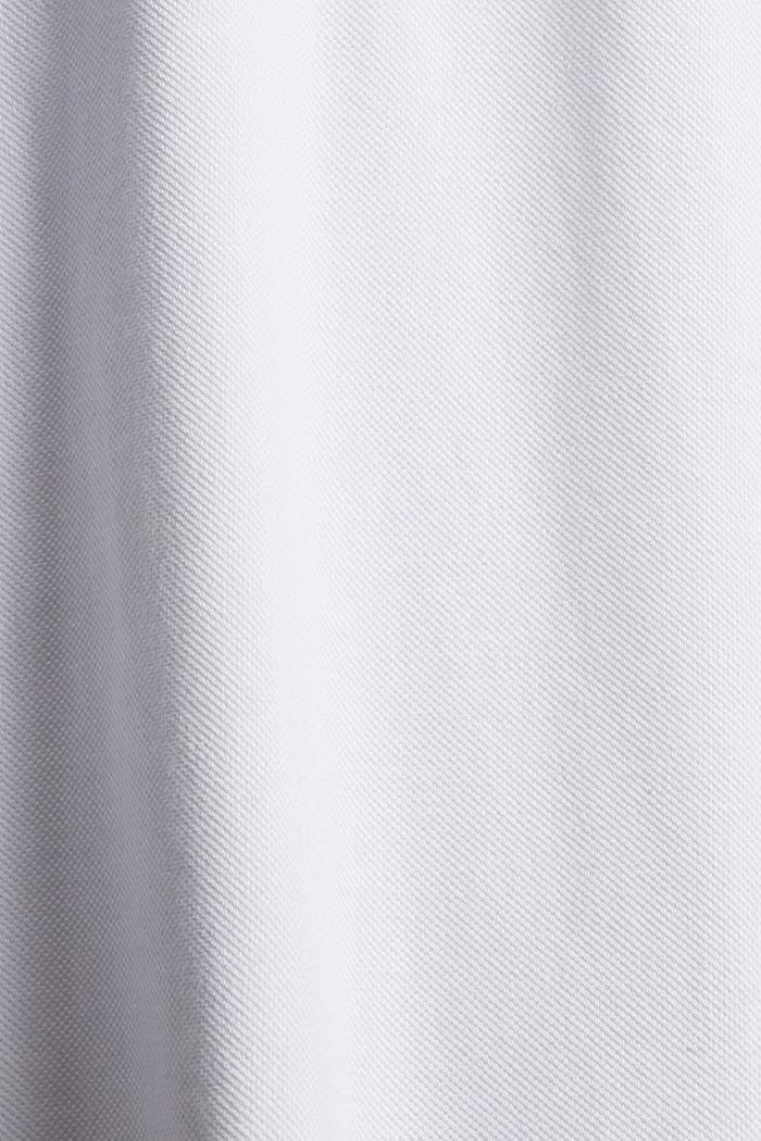 Polo de piqué con manga larga, algodón ecológico, WHITE, detail image number 4