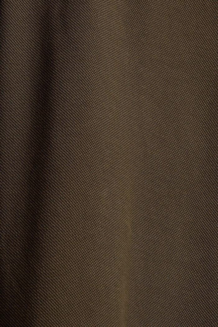 Pitkähihainen pikeepaita luomupuuvillaa, DARK KHAKI, detail image number 5