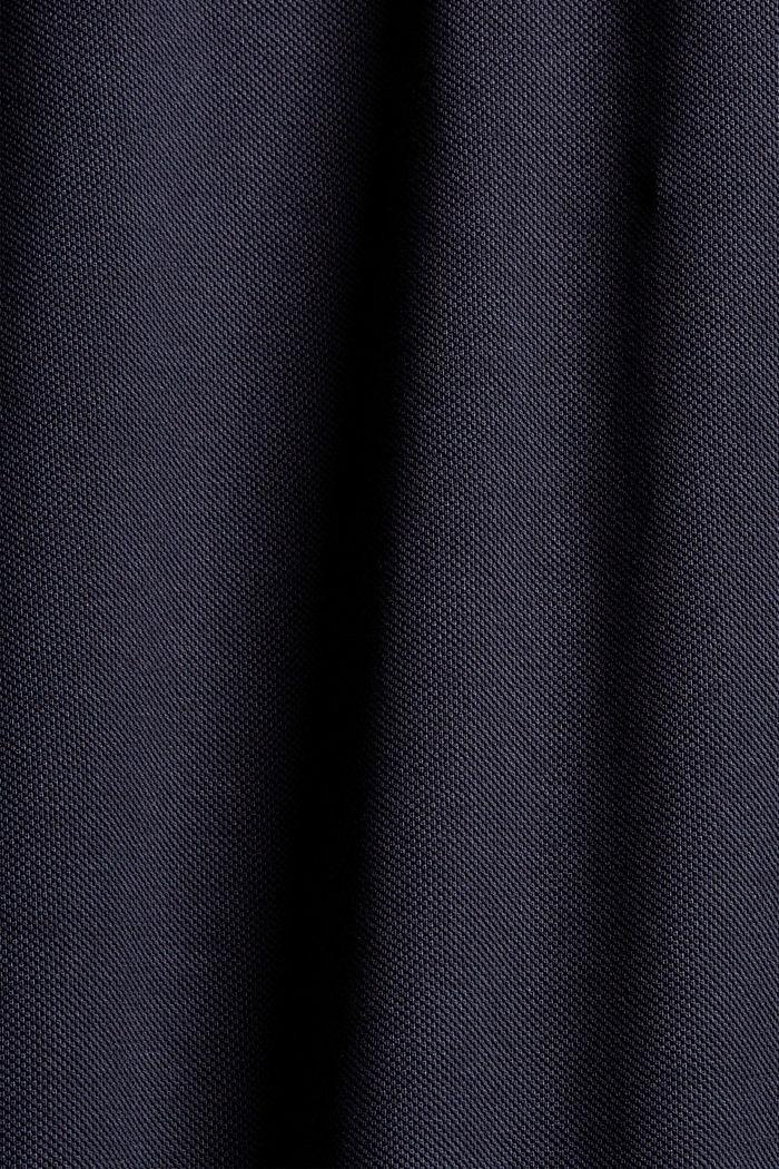 Piqué poloshirt met lange mouwen, organic cotton, NAVY, detail image number 5