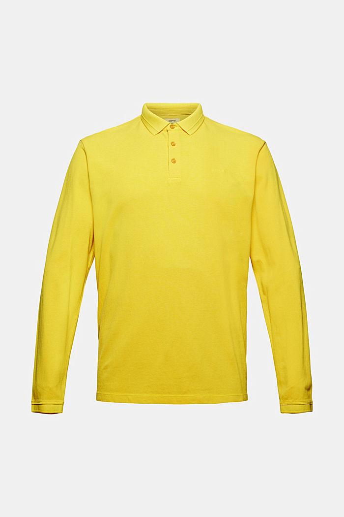 Langärmeliges Piqué-Polo, Organic Cotton