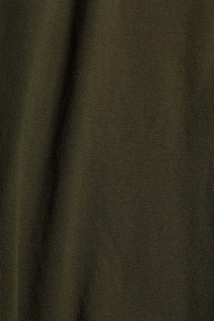 T-Shirts Big Size Fit, DARK KHAKI, detail image number 1