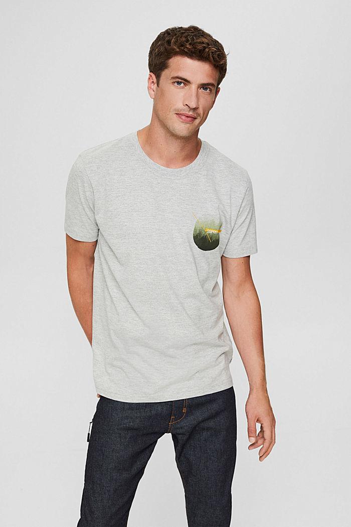 Jersey-T-Shirt mit Print, Organic Cotton, LIGHT GREY, detail image number 0