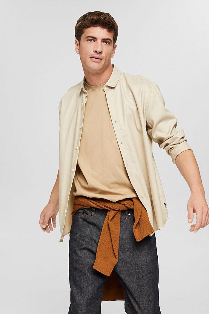 Jersey-T-Shirt mit Stickerei, Organic Cotton, BEIGE, detail image number 4