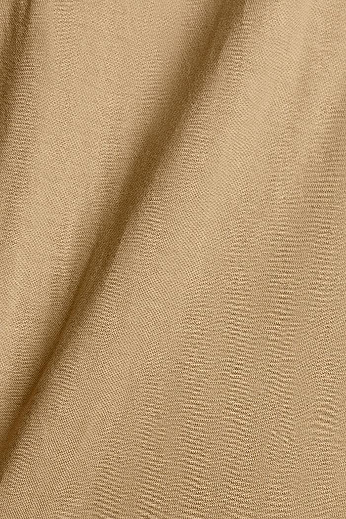 Jersey-T-Shirt mit Stickerei, Organic Cotton, BEIGE, detail image number 5