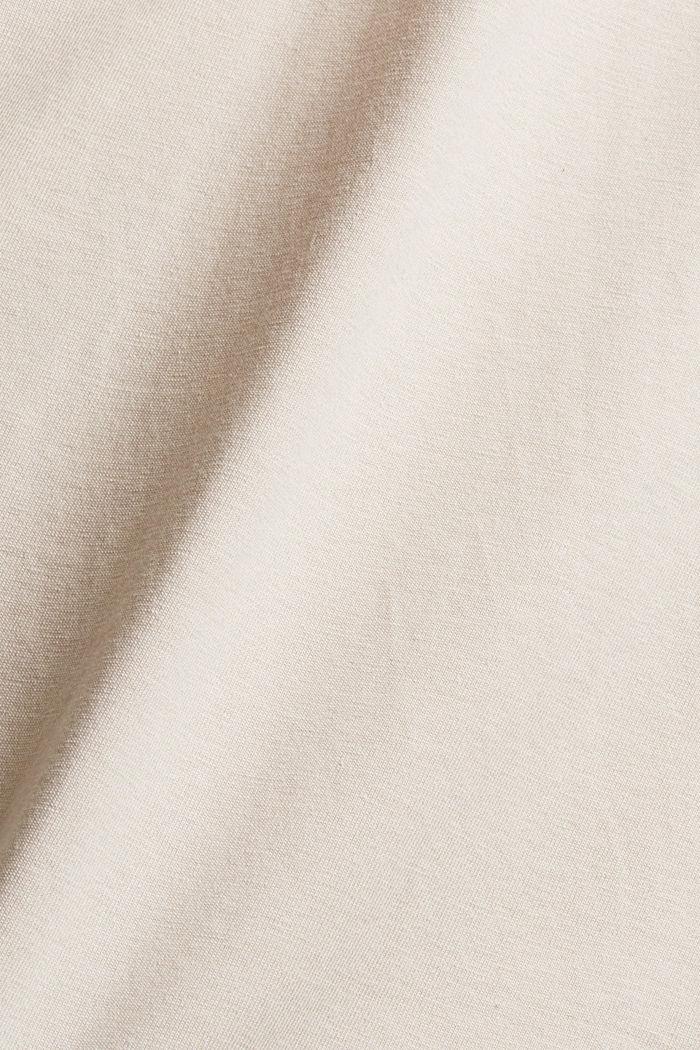 Jersey-T-Shirt mit Stickerei, Organic Cotton, CREAM BEIGE, detail image number 5