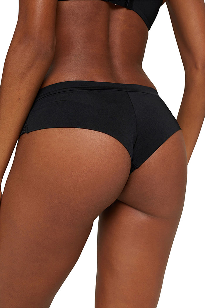 Recycelt: Hipster-Shorts mit Soft Touch, BLACK, detail image number 3