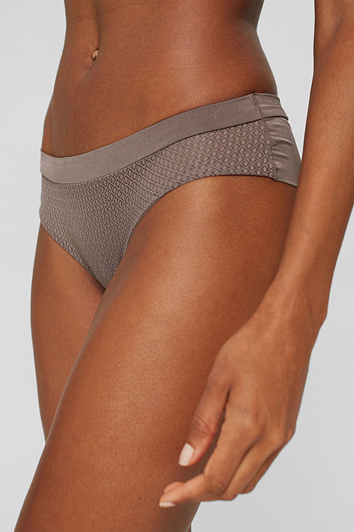 Recycelt: Hipster-Shorts mit Soft Touch, TAUPE, detail image number 1