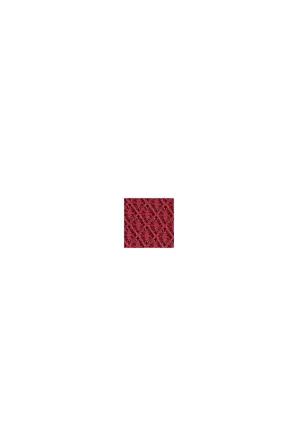 In materiale riciclato: culotte corte morbide al tatto, DARK RED, swatch