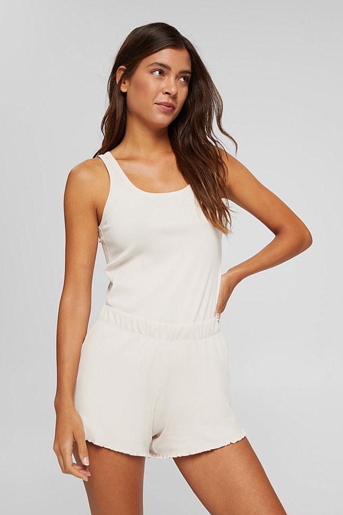 Gerippte Shorts aus Baumwolle, ICE, detail image number 0