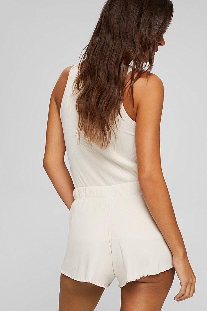 Gerippte Shorts aus Baumwolle, ICE, detail image number 3