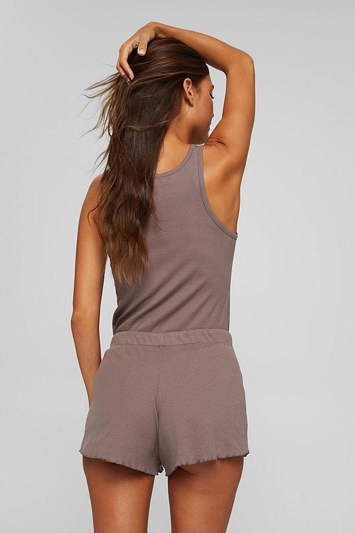 Gerippte Shorts aus Baumwolle, TAUPE, detail image number 3
