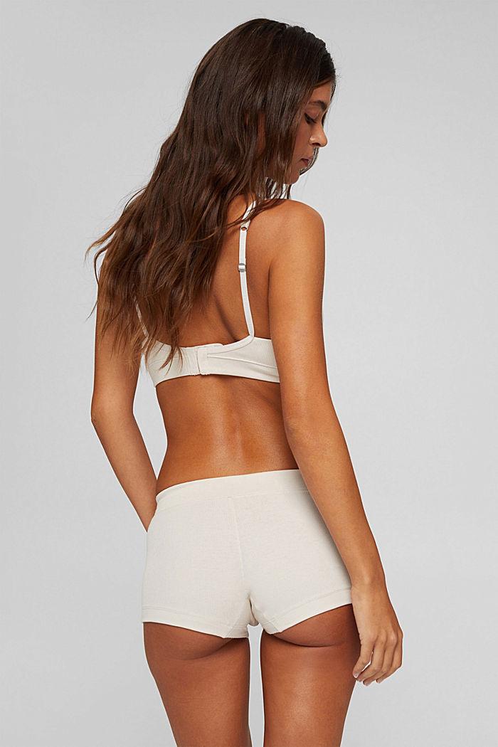 Gerippte Shorts aus Baumwolle, ICE, detail image number 2