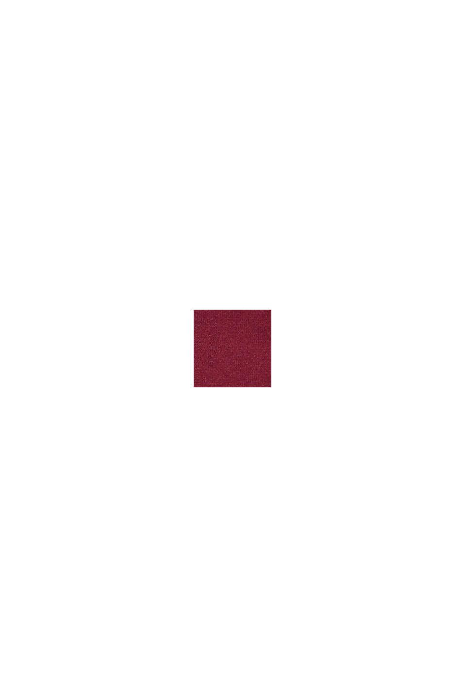In materiale riciclato: culotte corte morbide e confortevoli, DARK RED, swatch