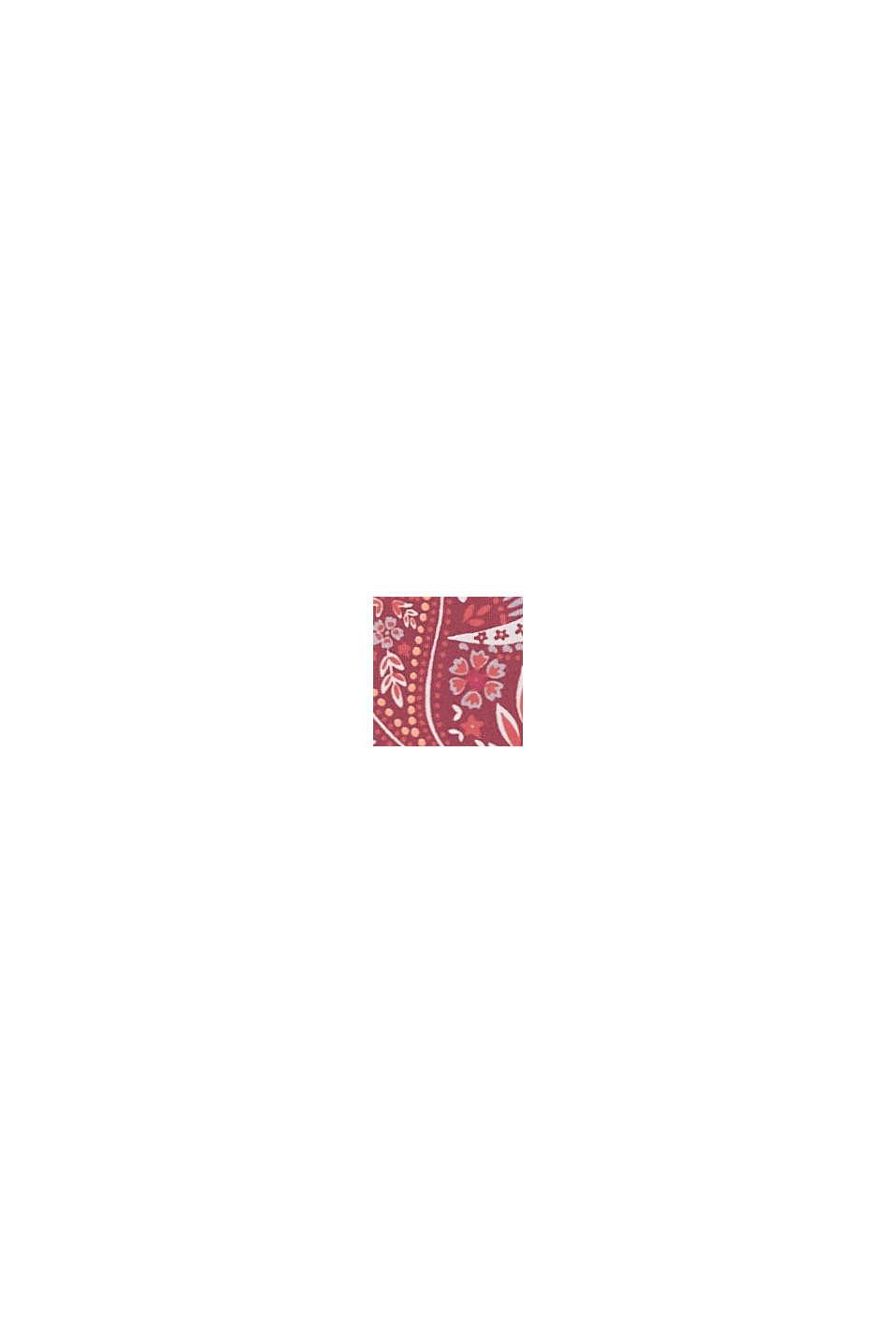 En matière recyclée: le slip taille basse à motif, DARK RED, swatch