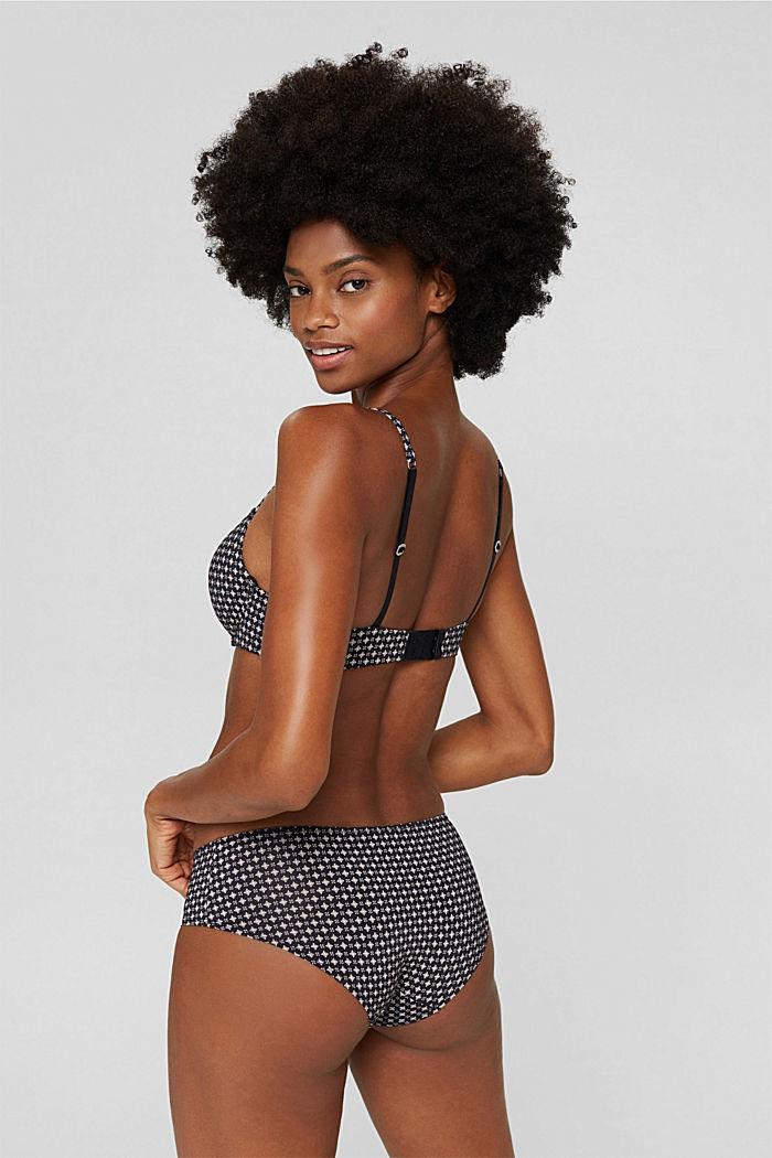 Recycelt: gemusterte Hipster-Shorts, BLACK, detail image number 2