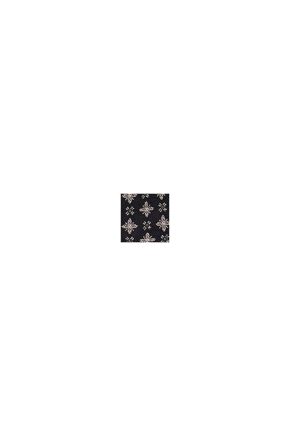 Återvunnet material: miditrosor med rysch i 2-pack, BLACK, swatch