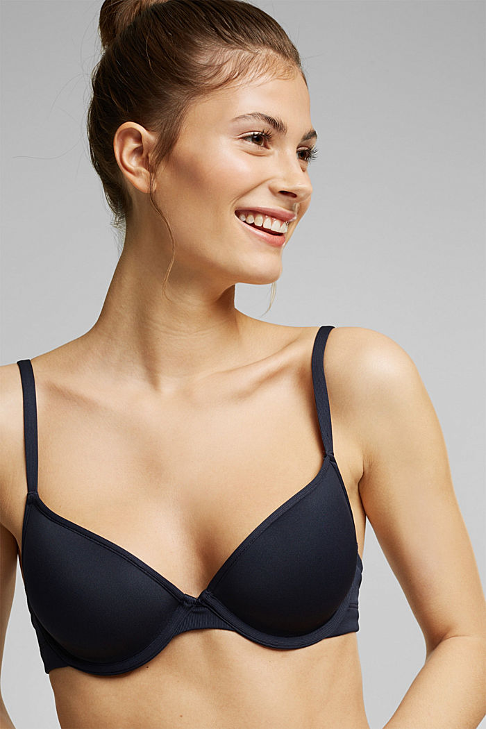 Bras with wire, NAVY, detail image number 3