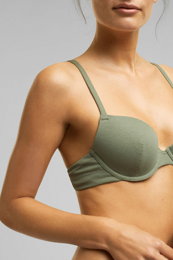 Bras with wire, LIGHT KHAKI, detail image number 5