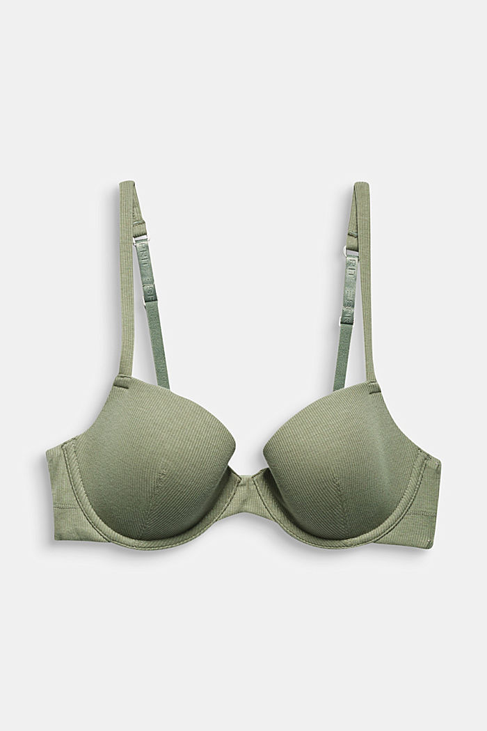 Bras with wire, LIGHT KHAKI, detail image number 4