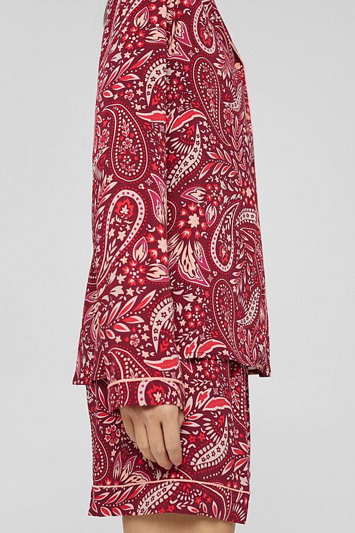 Pyjama court en LENZING™ ECOVERO™, DARK RED, detail image number 3
