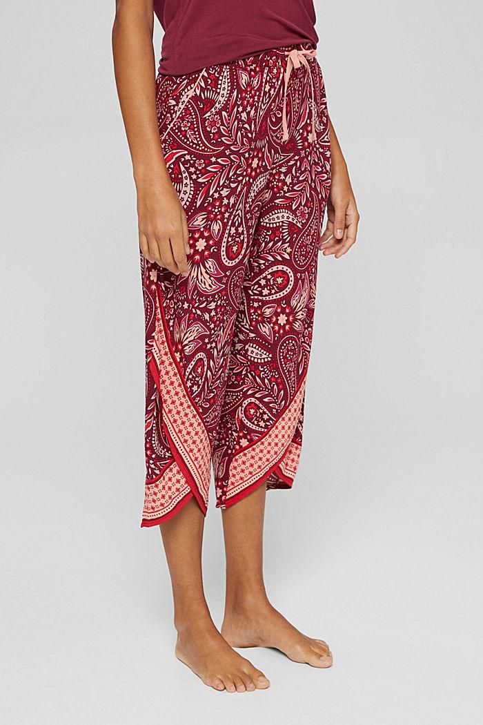 Pantaloni da pigiama cropped in LENZING™ ECOVERO™