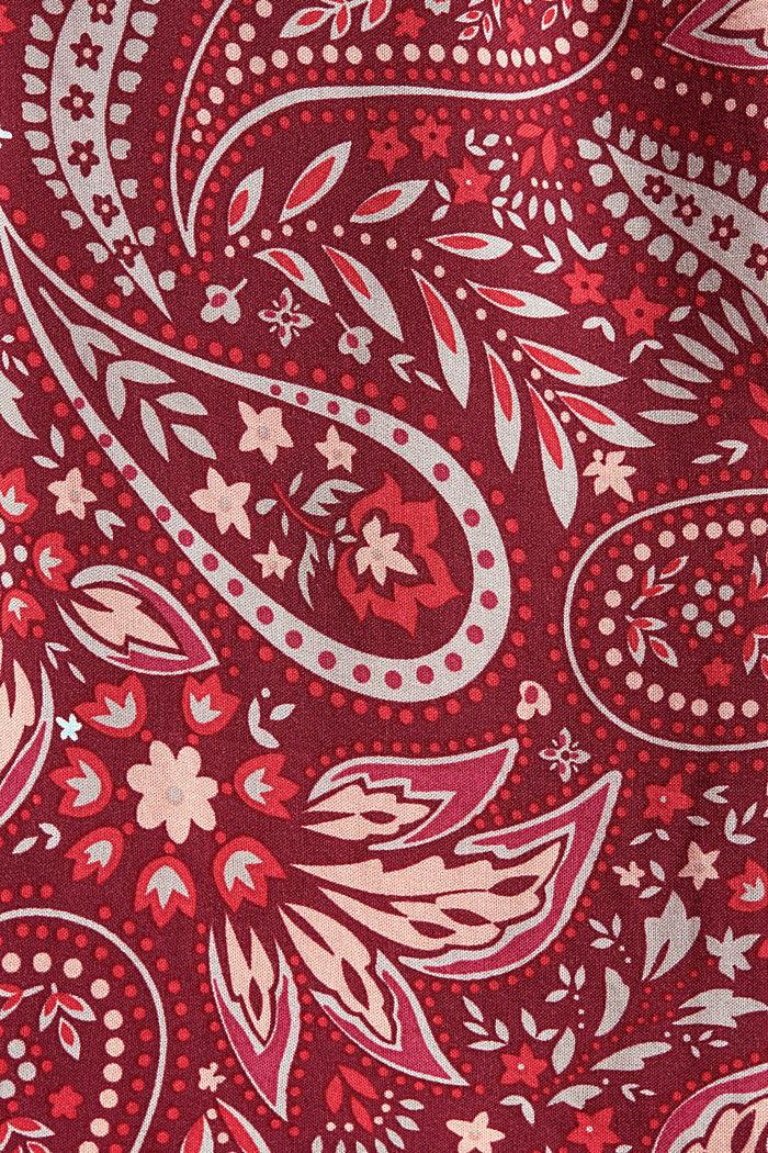 Cropped Pyjama-Hose aus LENZING™ ECOVERO™, DARK RED, detail image number 4