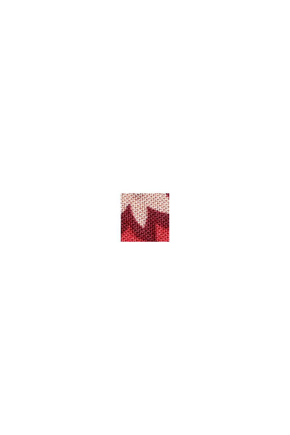 Pantaloni da pigiama cropped in LENZING™ ECOVERO™, DARK RED, swatch