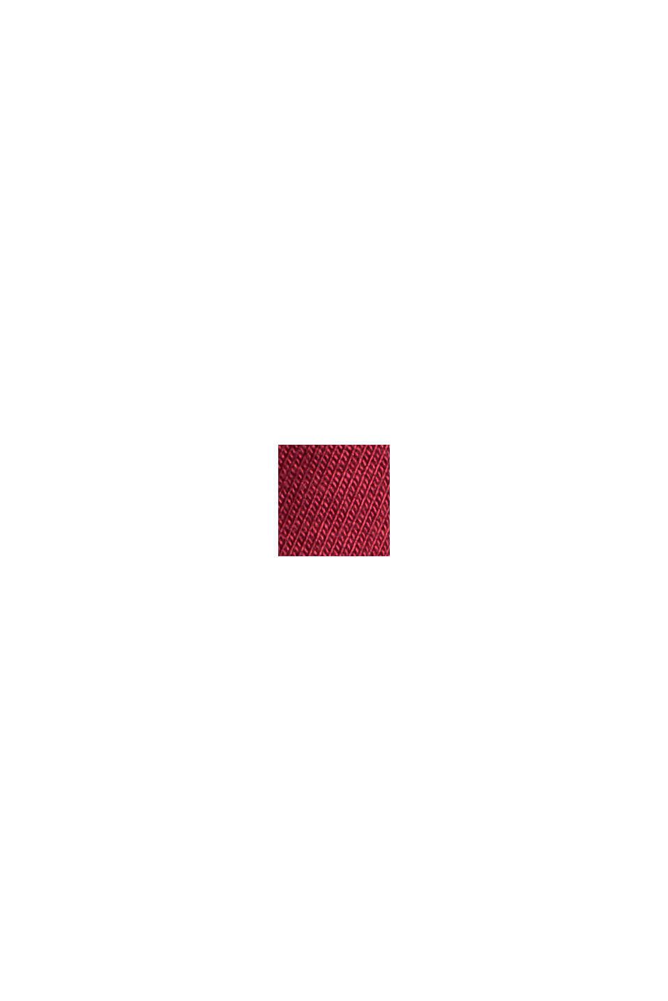 Jersey pyjama met satijn, LENZING™ ECOVERO™, DARK RED, swatch