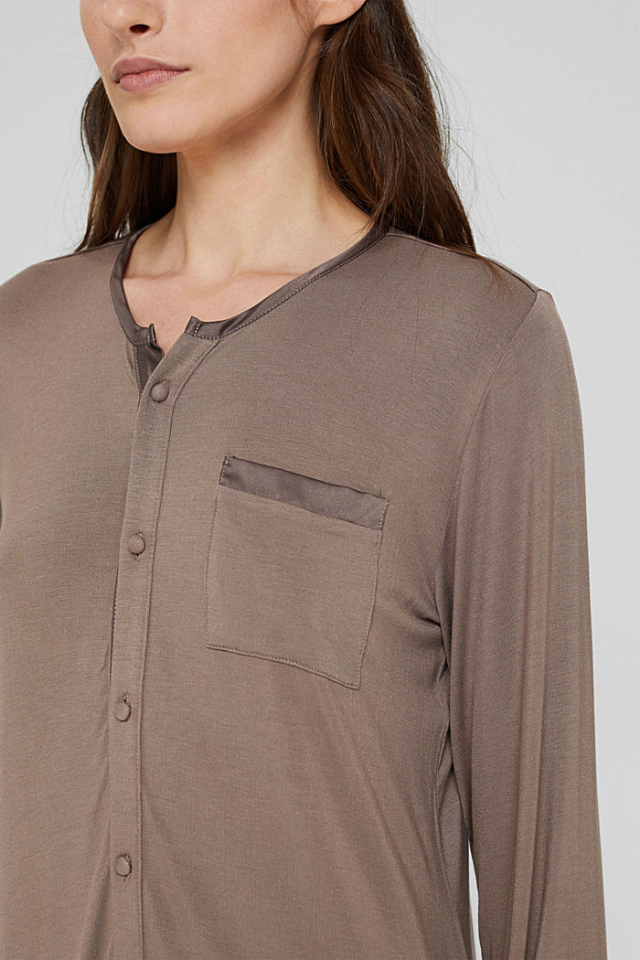 Jersey nachthemd van LENZING™ ECOVERO™, TAUPE, detail image number 3