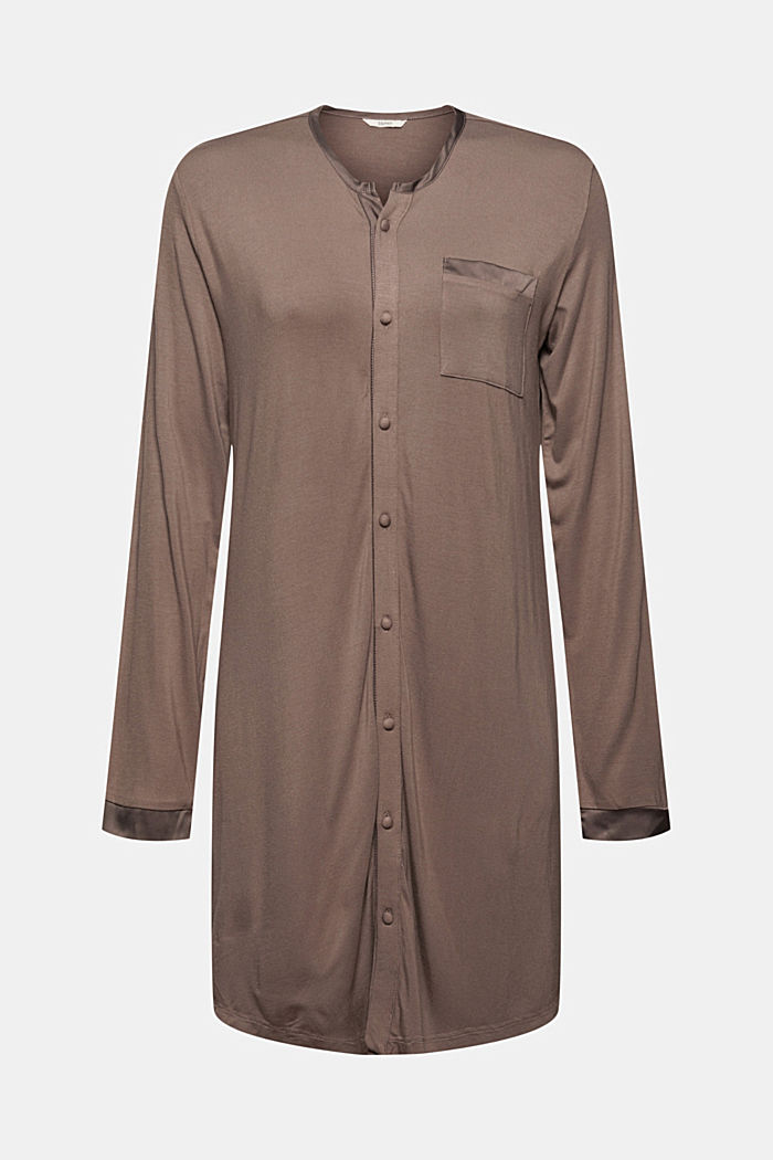 Jersey nachthemd van LENZING™ ECOVERO™, TAUPE, detail image number 5