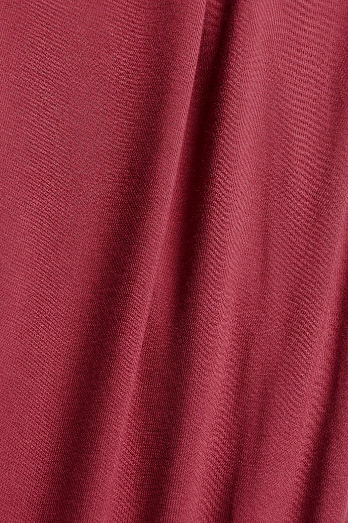 Jersey nachthemd van LENZING™ ECOVERO™, DARK RED, detail image number 4