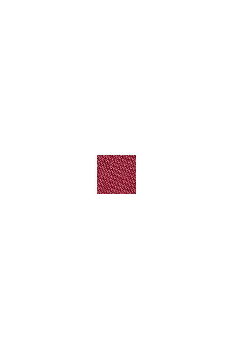 Jersey nachthemd van LENZING™ ECOVERO™, DARK RED, swatch