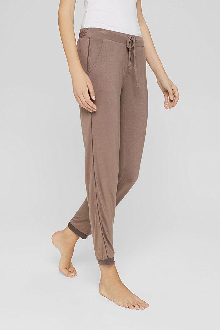 Pyjamahose mit Satin, LENZING™ ECOVERO™, TAUPE, detail image number 5
