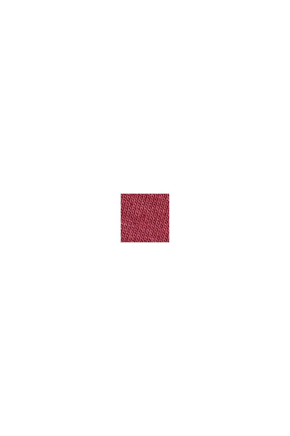 Pantaloni da pigiama con raso, LENZING™ ECOVERO™, DARK RED, swatch
