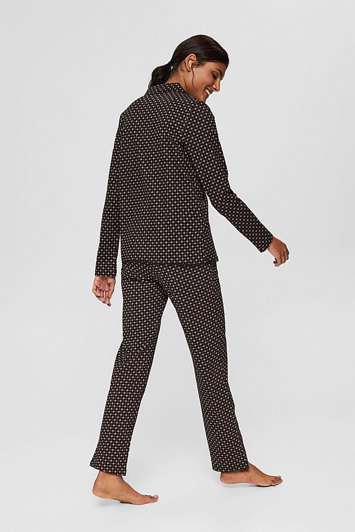 Jersey-Pyjama aus 100% Organic Cotton, BLACK, detail image number 2