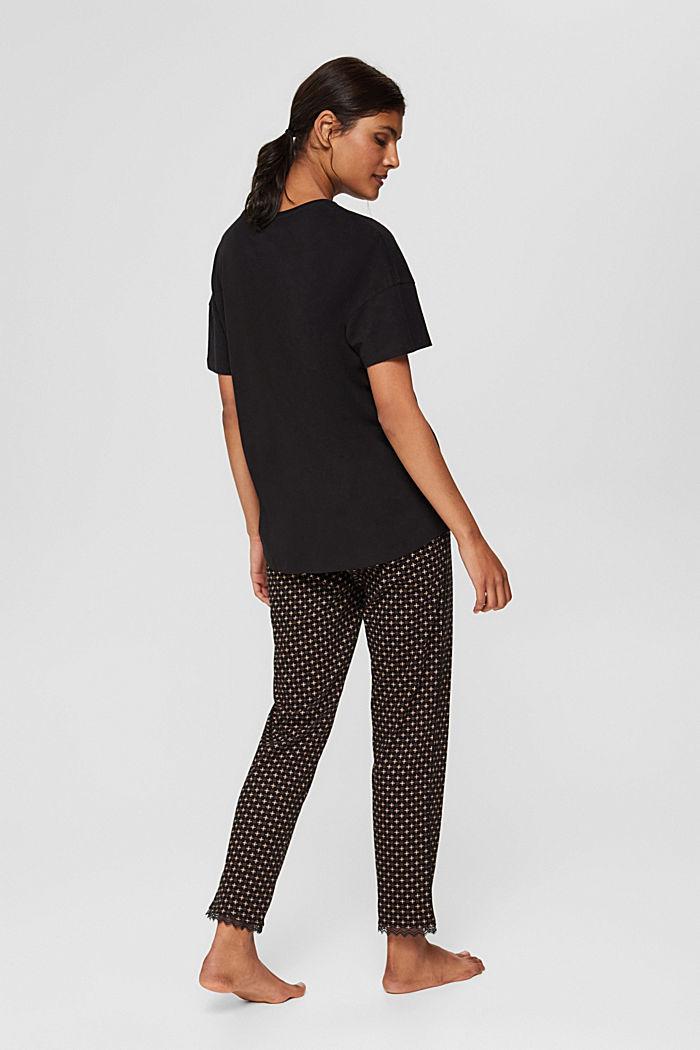 Pyjama en jersey, 100% coton biologique, BLACK, detail image number 1